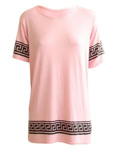 Pink Aztec Celebrity Inspired By Vicky Pattison T-Shirt