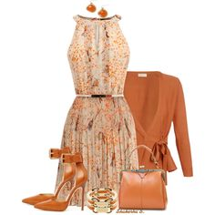 A fashion look from August 2013 featuring Oasis dresses, Dries Van Noten cardigans y Michael Kors pumps. Browse and shop related looks.