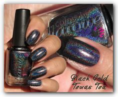 *Sold to Kelsey* Colors by Llarowe- Black Gold, Texas Tea, 1 mani, $10 plus actual shipping