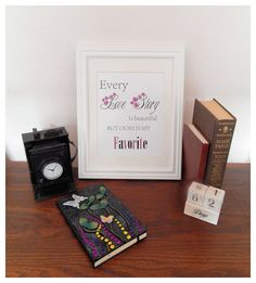 Digital Wall Art Every Love Story by RavenberryStudio on Etsy Digital Wall, Love Story, Arts And Crafts, Wall Art, My Favorite Things, Frame, Awesome, Creative, Handmade