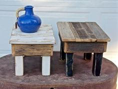 O&E Designs is a Washington and Idaho based home decor and furniture company creating custom built and newly restored pieces using reclaimed wood, repurposed architectural salvage and vintage restorations. Architectural Salvage, Farmhouse Style Furniture, Reclaimed Wood, Furniture Companies, Home Decor, Shop Design, Stool, Cedar, Reclaimed Barn Wood