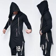 Unblance Designer Waist String Zipup-Hoodie 107 by Guylook.com
