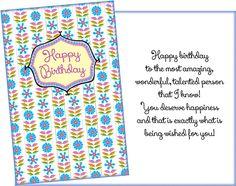 Birthday wishes female