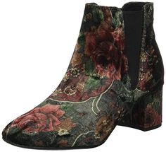 Marco Tozzi Damen 25052 Chelsea Boots, Mehrfarbig (Velvet Multi), 37 EU All About Shoes, Cowboy Boots, Chelsea Boots, Velvet, Heels, Fashion, Self, Heel, Moda