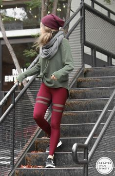 Stylish yoga pants designed to be dressed up or down. Apex Leggings by GTS Clothing.