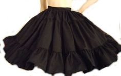 Gothic Lolita Skirt Full Gathered Ruffle Skirt Gothic Lolita Goth Steampunk Black Custom Size Plus Size Made to Measure