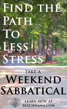 Stress can impact your health. Try a weekend sabbatical - a few days to disconnect from the problems and workload that weigh you down. Find out how at beachnana.com