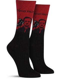 Awesome Famous Author Edgar Allen Poe Socks for Women