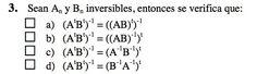 Ejercicio 3 del Examen de Matemática 2 (ADE, ULL). 9 Julio 2012. Tema: Matrices