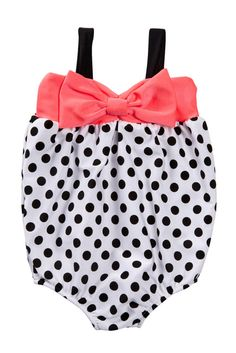 1 Piece Polka Dot Swimsuit (Baby Girls) nordstrom rack