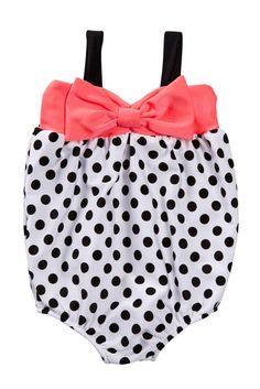 1 Piece Polka Dot Swimsuit (Baby Girls) nordstrom rack