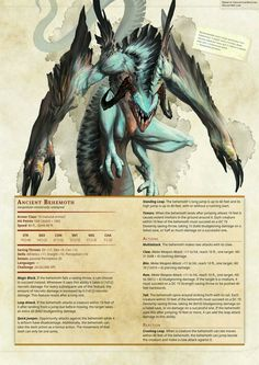 dungeons and dragons creatures Dnd Dragons, Dungeons And Dragons 5e, Dungeons And Dragons Homebrew, Monster Concept Art, Fantasy Monster, Creature Concept Art, Creature Design, Dnd Stats, Dnd 5e Homebrew