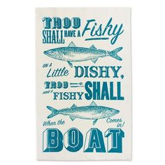 Sea Shanty Tea Towel
