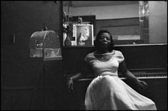 - Mary Lou Williams (born Mary Elfrieda Scruggs), jazz pianist, composer, arranger, educator and humanitarian in her apartment in Washington Heights 1958 Dennis Stock, Lou Williams, Jazz Artists, Jazz Music, Piano Jazz, Pop Music, Women In Music, Louis Armstrong, Photographer Portfolio