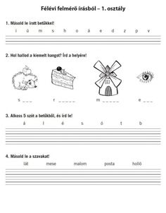 FELMÉRŐ FELADATLAPOK 1. OSZTÁLY - webtanitoneni.lapunk.hu Dysgraphia, Home Learning, Teaching Tips, Compass Tattoo, Worksheets, Lily, Education, School, Star Wars