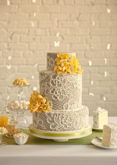 One of a Kind Wedding Cakes from Artisan Cake Company.