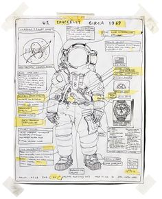 A rendering of Neil #Armstrong's Apollo 11 suit by artist Tom Sachs, based on the Apollo Lunar Surface Journal.