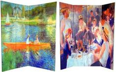 RoomDividers.com: 6 ft. Tall Works of Renoir Room Divider - The Seine/The Luncheon