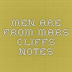 Men are from mars cliffs notes