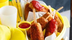 Get your grandkids to eat their meat and vegetables with these cheesy sausage pops!