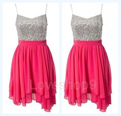 Cute pink homecoming dress!