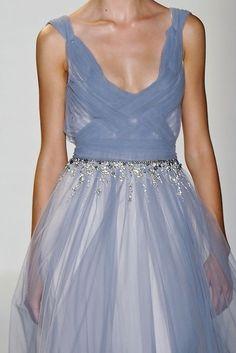 Valentin Yudashkin Spring 2012 Blue Sheer Dress
