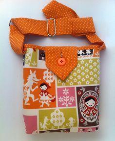 Handbag for Girls, redhood Tote, Small Cotton Fabric Purse, Cute Carryall Bag, fashionable crossbody