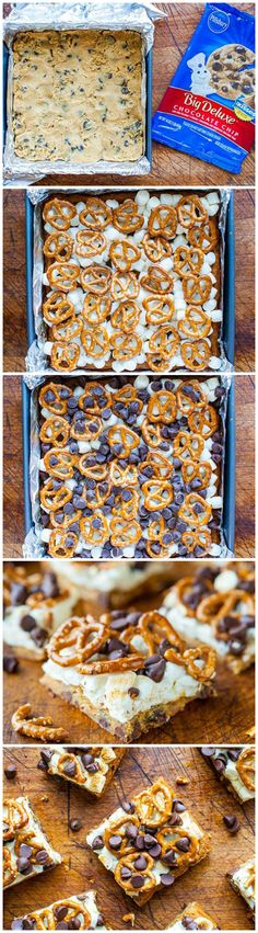 Pretzel S'mores Chocolate Chip Cookie Bars #pillsbury
