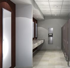 A Rendering I Did For A Corporate Building Public Restroom.