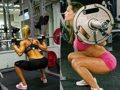 Um dos exercícios que mais engrossam pernas e coxas é o agachamento com barra livre