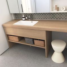 Dressing Table Design, Washroom, Powder Room, Home Projects, Laundry Room, Sink, New Homes, Shower, House