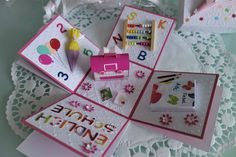 Geschenkkartons - Geschenkbox Einschulung Explosionsbox Schulanfang - ein Designerstück von Bastelhummel bei DaWanda
