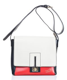 Look at this #zulilyfind! Rosso & Natural Color Block Leather Crossbody Bag by Acqua di Perla #zulilyfinds