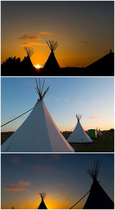 Tipis at Deepdale Backpackers & Camping on the beautiful North Norfolk Coast, England