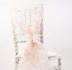 no 36 peach pink organza chair hoods chair caps chair cover sash for