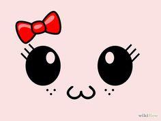 Image titled Draw a Cute Kawaii Face (Girl) Step 5