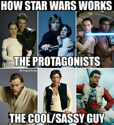 Let's be honest, everyone's favorites are the cool/sassy guys Star Wars Bilder, Anakin And Padme, Star Wars Rebels, Star Trek, Star Wars Art, Star Wars Humor, Last Jedi, Love Stars, Clone Wars