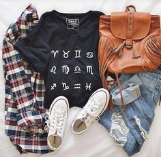 Image result for the signs as tumblr outfits