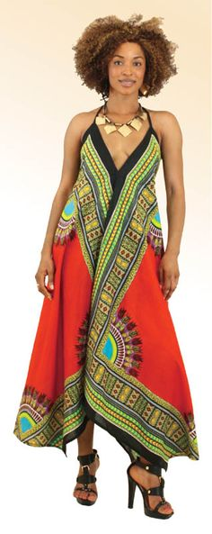 Dashiki Scarf Dress