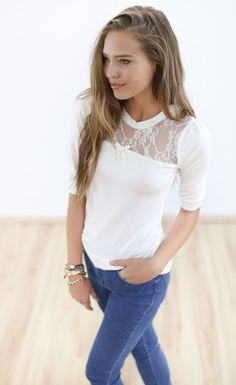 Longsleeves - Shirt Estellar in creme - ein Designerstück von Shoko bei DaWanda