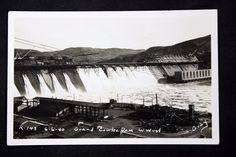 c.1940 RPPC Postcard Grand Coulee Dam Looking West R-148 Washington State