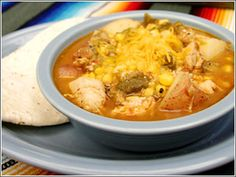 Green Chile Chicken Stew from El Pinto...I hope this recipe is like Camp Robbers