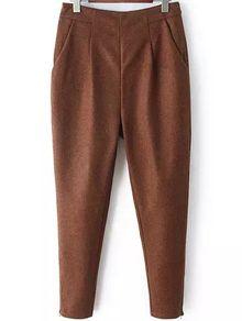 Women Zipper Brown Pant AU$31.71