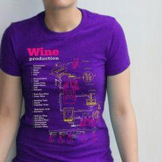 Wine T-shirt Vintage Vino Production Diagram Shirt
