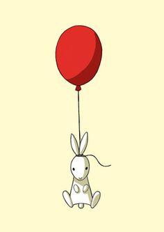 Saatchi Online Artist Indrė Bankauskaitė; Digital, Balloon Bunny #art