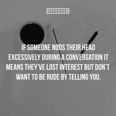 Psych to go: If someone nods....