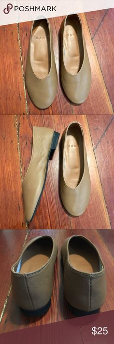53efcf798d2e Glove Leather Shoes Flats Tan Beige Brown 6 6.5
