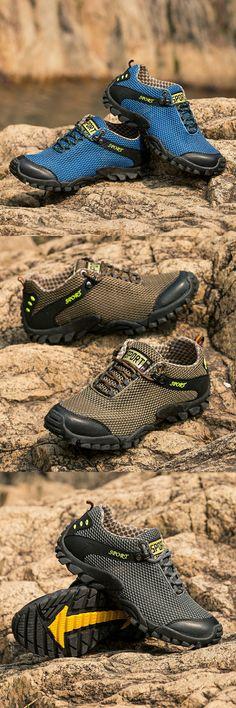 $23.48 <Click to buy> Men Hiking Shoes Waterproof Outdoor Trekking