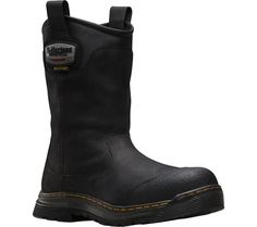 Men's Dr. Martens Rush EH Safety Toe Waterproof Rigger Boot - Black Connection Waterproof with FREE Shipping & Exchanges. The Rush EH Safety Toe Waterproof Rigger Boot is engineered for the most demanding workplace. This