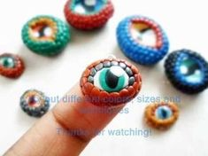 Polymer Clay Dragon Eye Charm Tutorial - Hobbies paining body for kids and adult Polymer Clay Dragon, Polymer Clay Figures, Polymer Clay Animals, Polymer Clay Canes, Polymer Clay Projects, Polymer Clay Creations, Fimo Clay, Polymer Clay Jewelry, Biscuit
